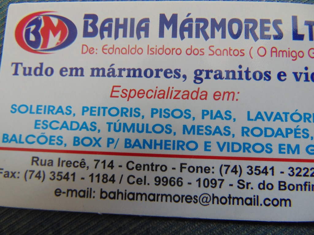 BAHIA MÁRMORE DO AMIGO GORDO
